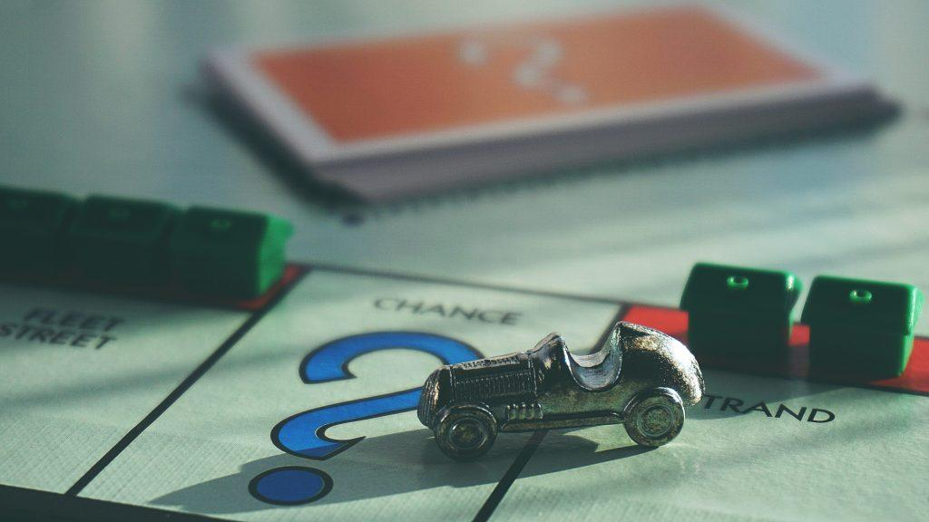 Car board piece from the Monopoly board game.