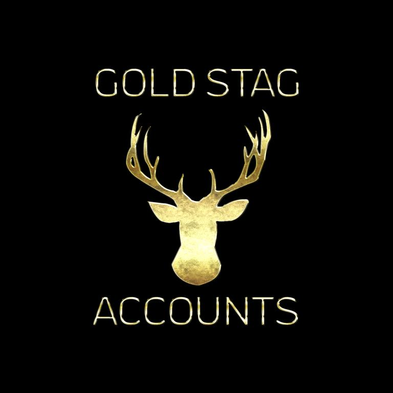 Gold Stag accounts golden logo.