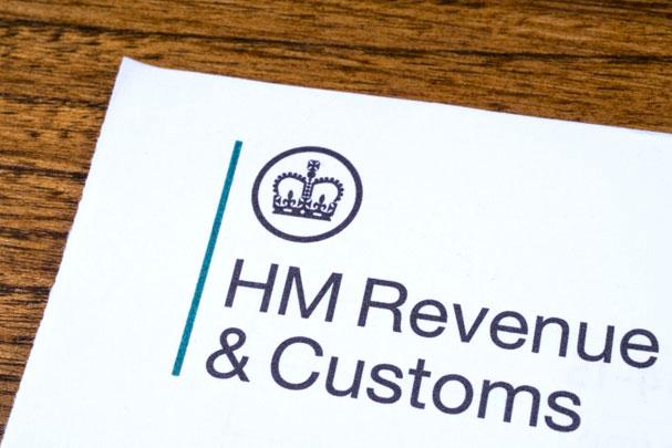 HMRC letterhead on printed paper.