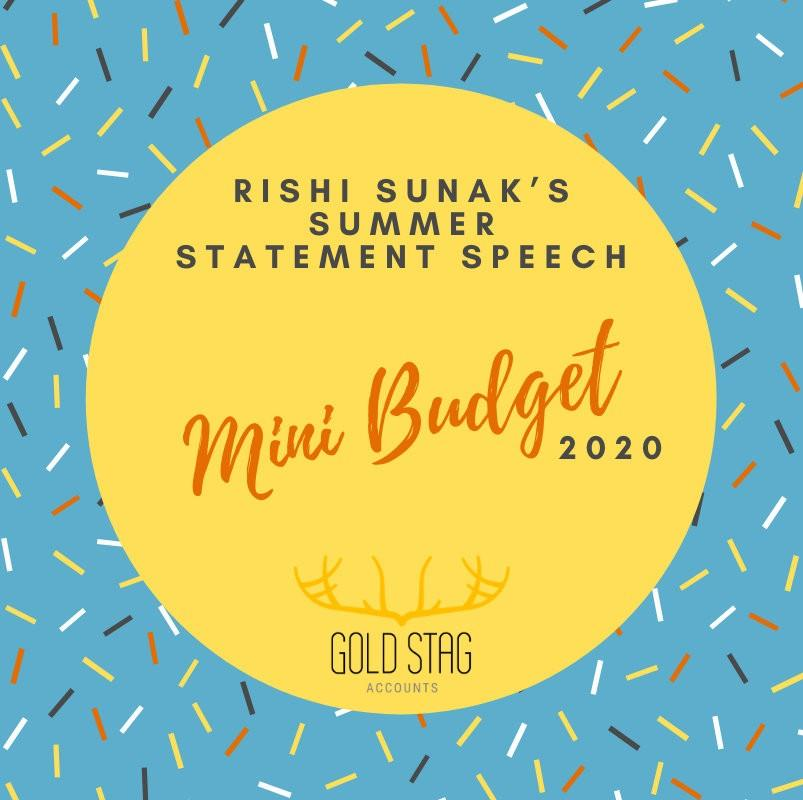 Rishi Sunak's Summer Statement Speech 2020